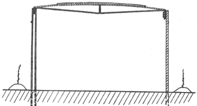 Шатровая горизонтальная шпалера в виде схемы