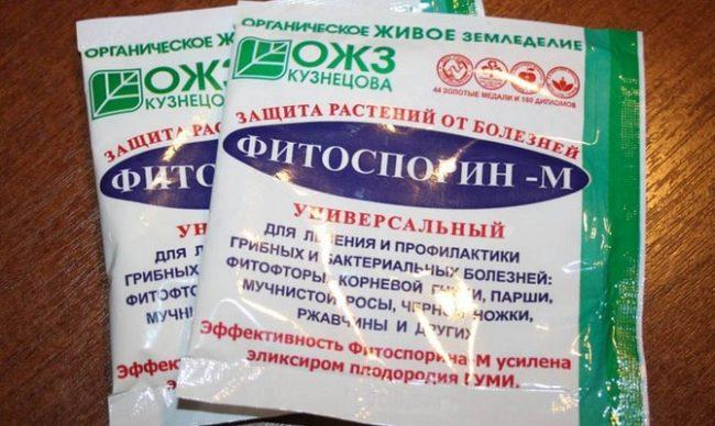 Пакет фитоспорина для лечения клубники
