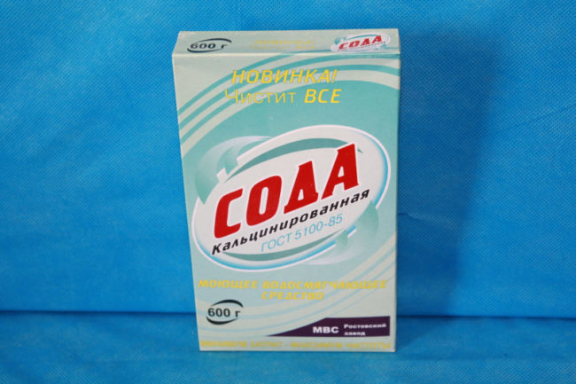 Коробка кальцинированной соды