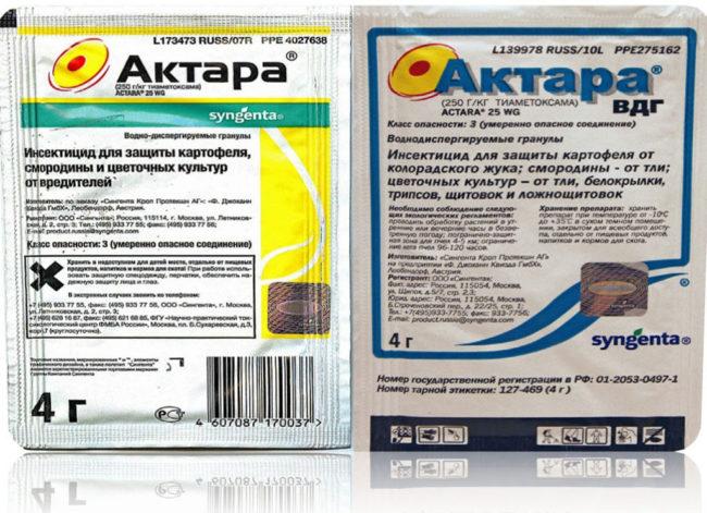 Препарат Актара для борьбы с вредными насекомыми