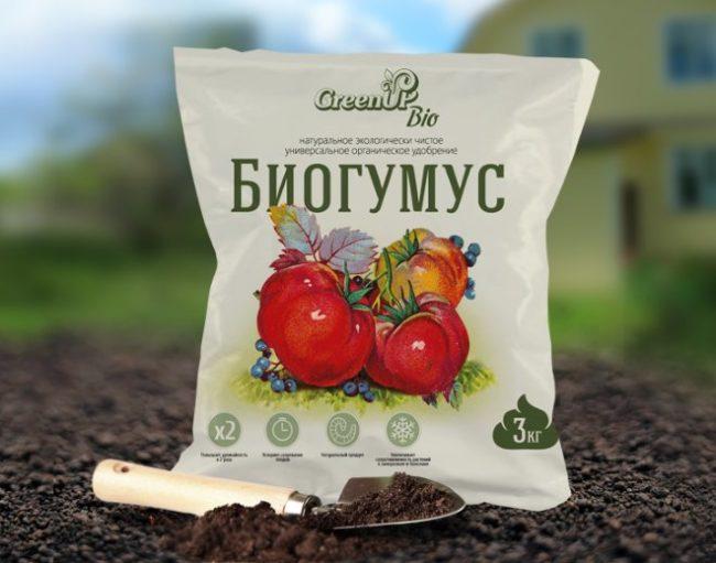 Пакет биогумуса для удобрения растений