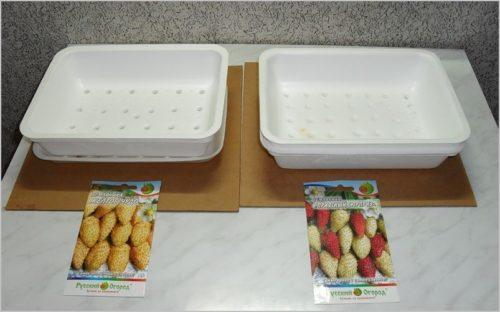 Пенопластовые коробки для рассады