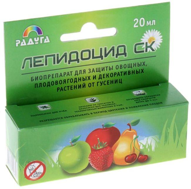 Биопрепарат для защиты клубники от тли Лепидоцид в упаковке по 20 мл