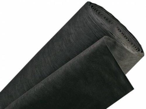 Рулон укрывног материала Спанбонд черного цвета