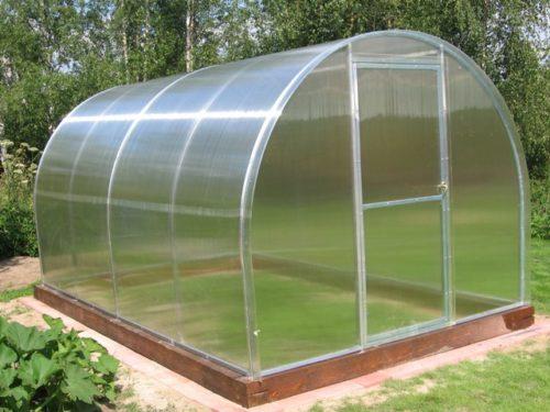 Теплица из поликарбоната для круглогодичного выращивания клубники