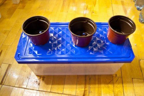 Пластиковая емкость объемом 8 литров с крышкой и горшки для рассады, необходимые материалы для домашней системы гидропоники