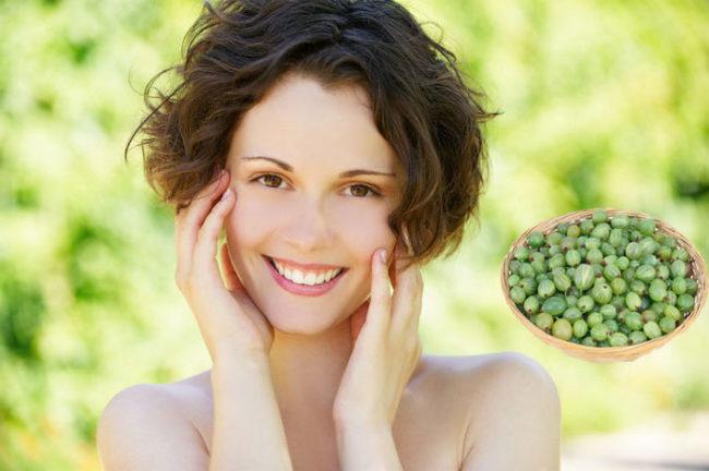 Применение крыжовника в косметологии для улучшения кожи лица, разглаживания морщин и удаления прыщей