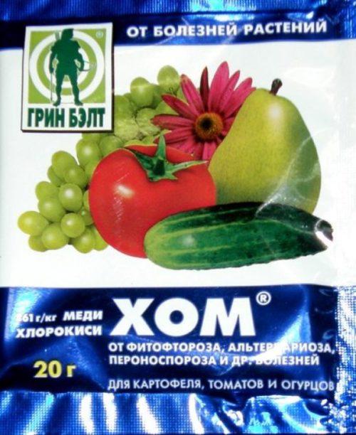 Пакет хлорокиси меди для опрыскивания крыжовника от грибковых заболеваний