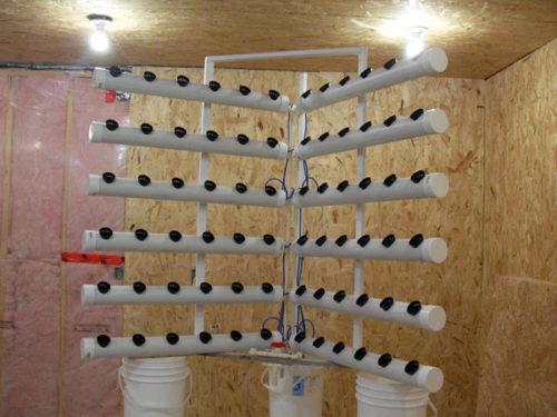 Самодельная система для выращивания клубники на гидропонике в домашних условиях