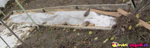 Укрытие винограда на зиму методом воздушно-сухого укрытия
