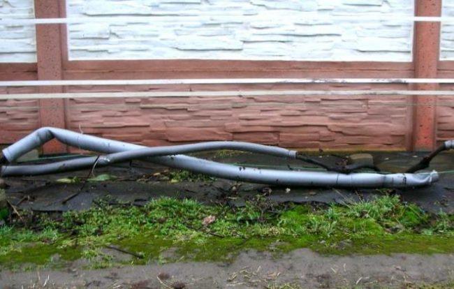 Использование трубной теплоизоляции для зимнего укрытия виноградной лозы