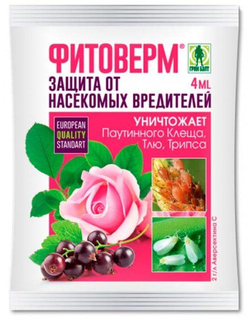 Капсула средства Фитоверм для профилактического опрыскивания винограда от бактериологических заболеваний