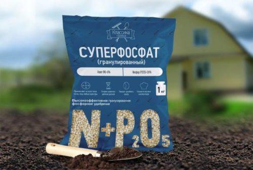 Пакет минерального удобрения Суперфосфат для подкормки садовых растений