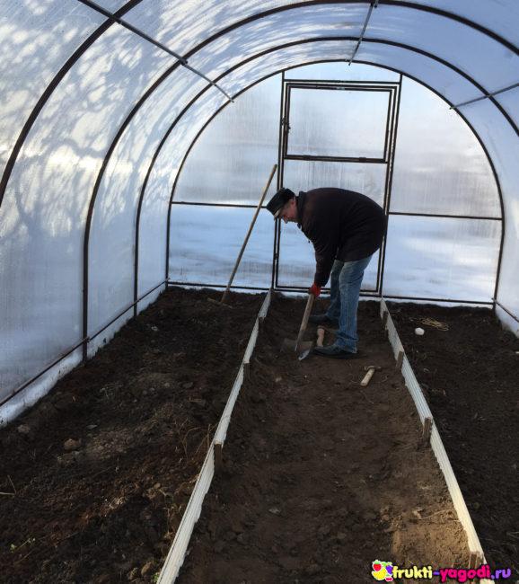 Подготовка почвы в теплице создание грядок