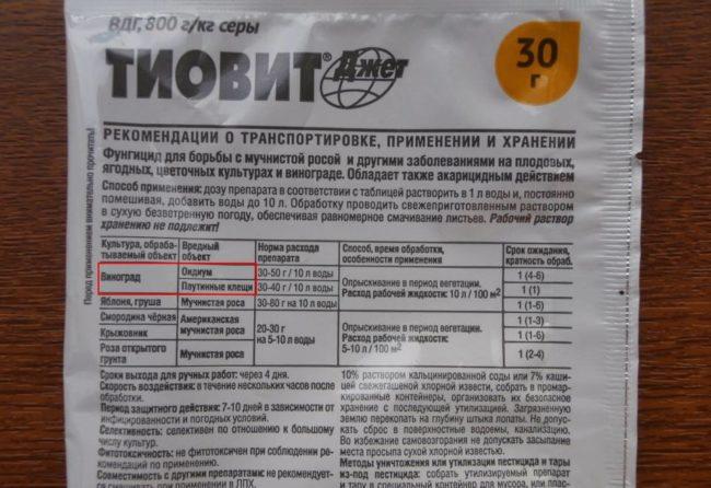 Пакет препарата Тиовит Джет с инструкцией по использованию