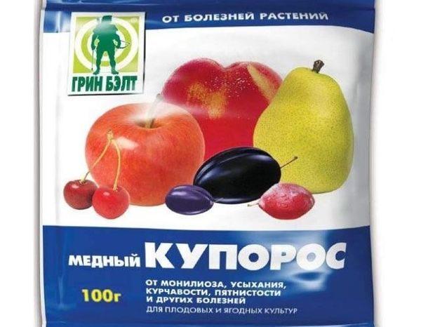 Пакет медного купороса для опрыскивания посадок картофеля от фитофторы
