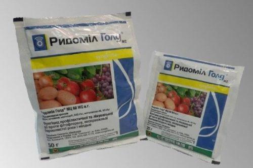 Комплексный фунгицидный препарат Ридомил Голд для лечения фитофтороза картофеля