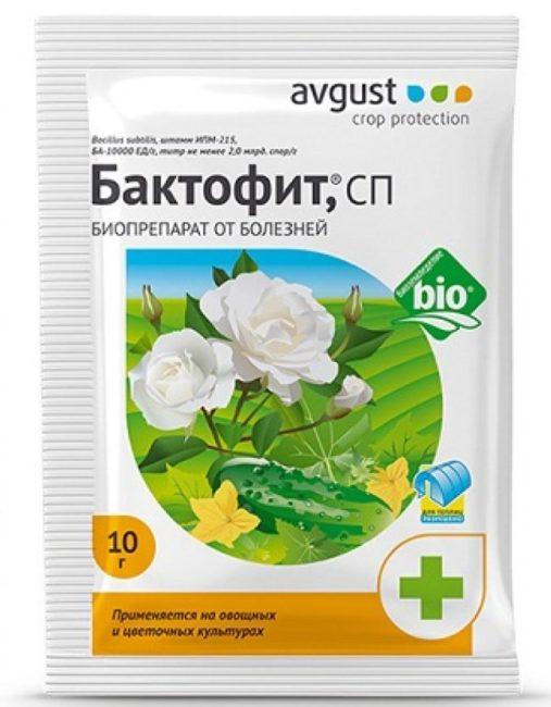 Пакет с биопрепаратом Бактофит для лечения мучнистой росы помидоры