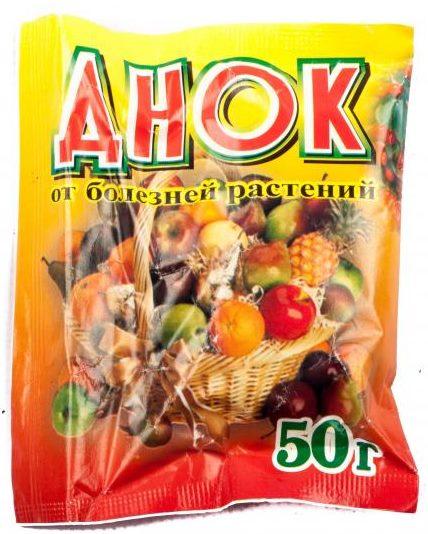 Пакет с гранулированным препаратом ДНОК весом 50 грамм для обработки яблони