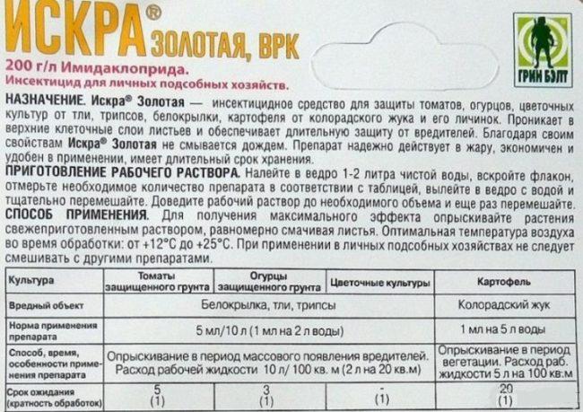 Инструкция по использованию препарата Искра при обработке сливы от тли