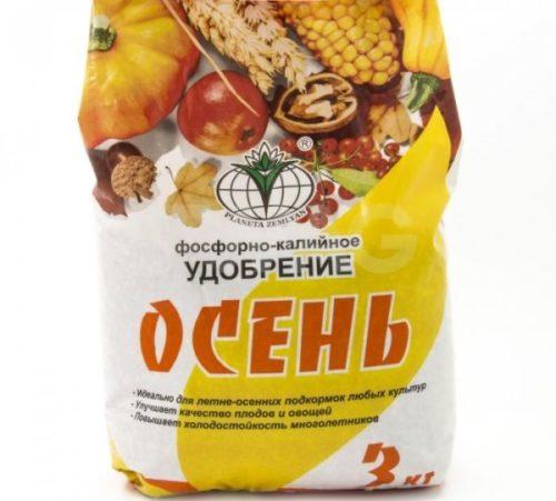 Пакет с минеральным фосфорно-калийным удобрением Осень