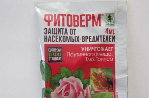 Упаковка с препаратом Фитоверм для обработки огурцов в теплице от тли