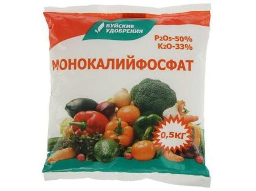 Пакет с фосфатом калия от фирмы Буйские удобрения для сада и огорода