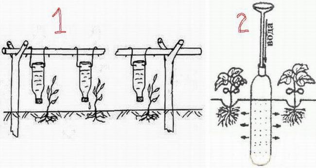 Схемы организации своими руками капельного полива огурцов из старых пластиковых бутылок