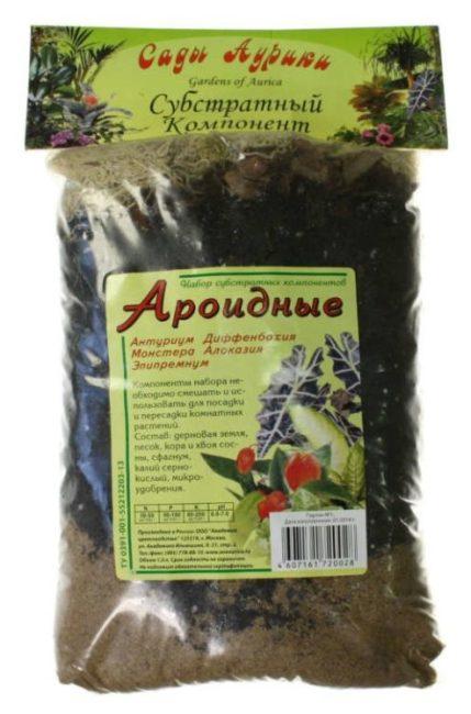 Упаковка с грунтом для выращивания ароидных комнатных растений