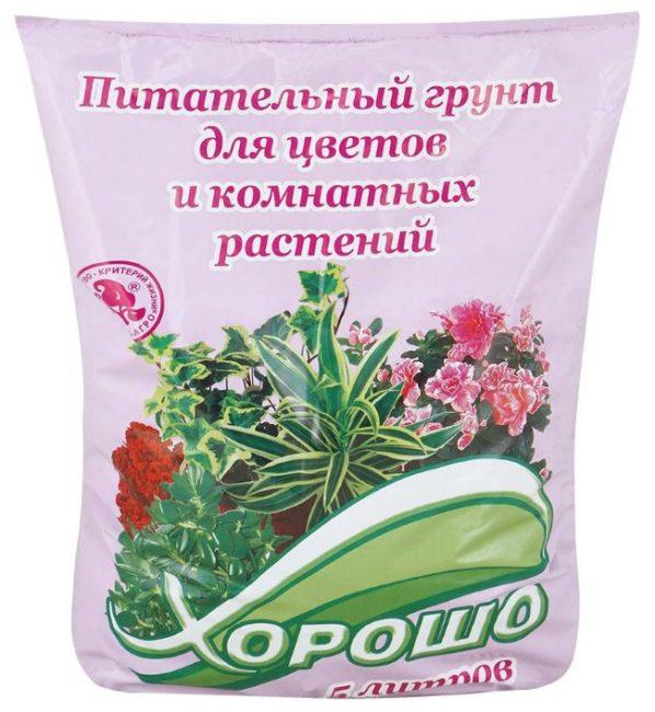 Пятилитровый пакет с питательным грунтом для цветов и комнатных растений