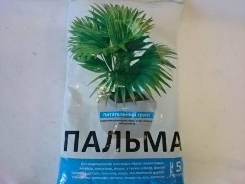 Пакет объемом в пять литров с питательным грунтом для пальм