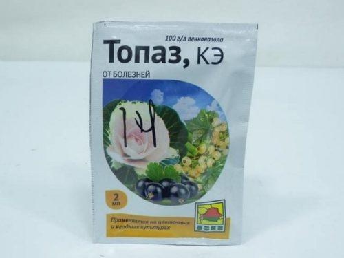 Упаковка с препаратом Топаз для лечения болезней огородных культур