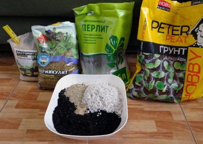 Подготовка питательного грунта для посадки петунии в домашних условиях