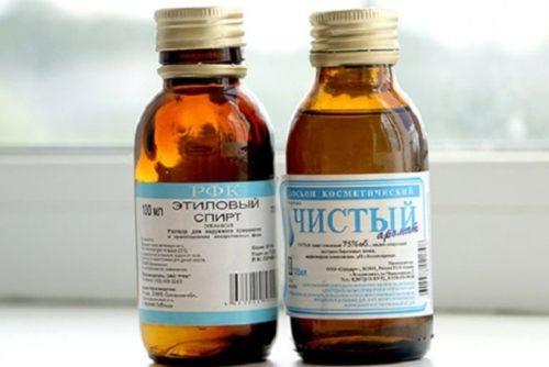 Чистый этиловый спирт для дезинфекции садового инструмента
