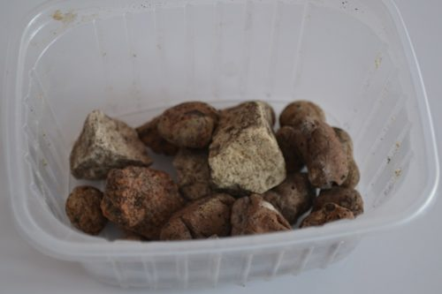 Дренаж из мелких камней в горшке для комнатной орхидеи