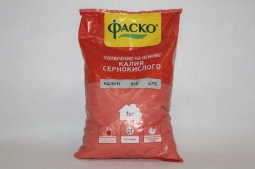 Пакет с калием сернокислым от фирмы Фаско для подкорки вишни