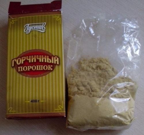 Столовая горчица для приготовления раствора от садовой тли