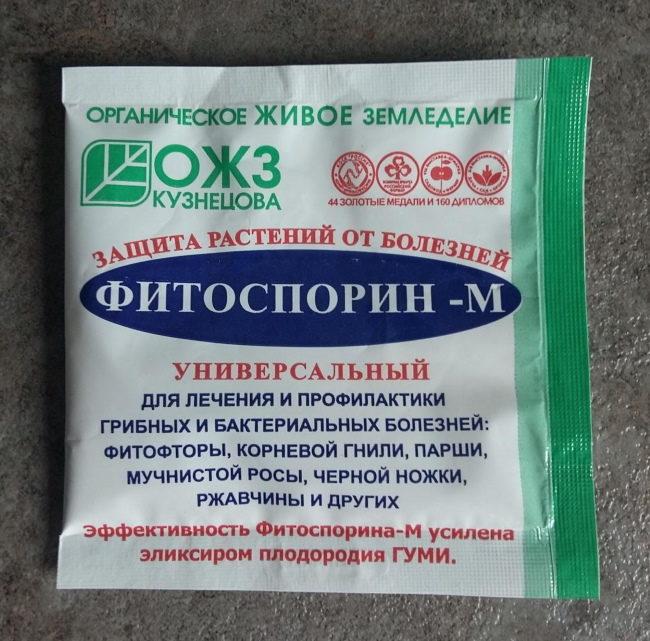 Пакет Фитоспорина для лечения и профилактики болезней смородины