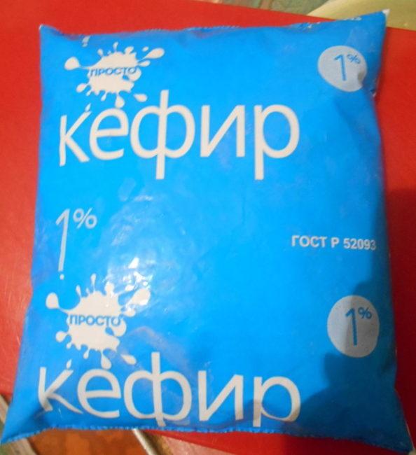 1% кефир в литровом пакете синего цвета для профилактики мучнистой росы