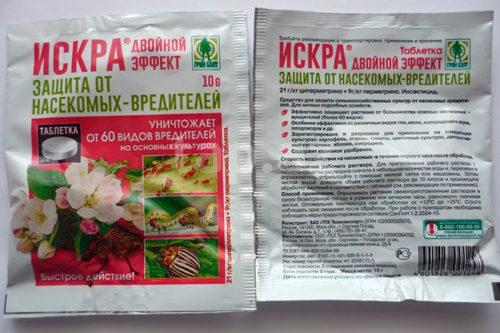 Инструкция на обратной стороне упаковки препарата Искра