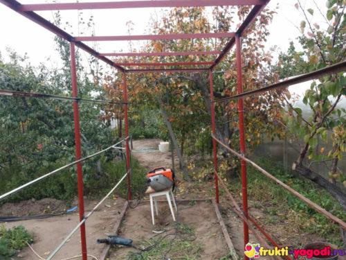 Общий вид конструкции для помидор